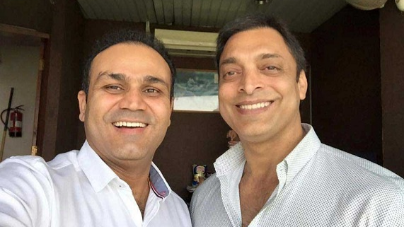 Virender Sehwag, Shoaib Akhtar set to converse on India-Pakistan cricket rivalry