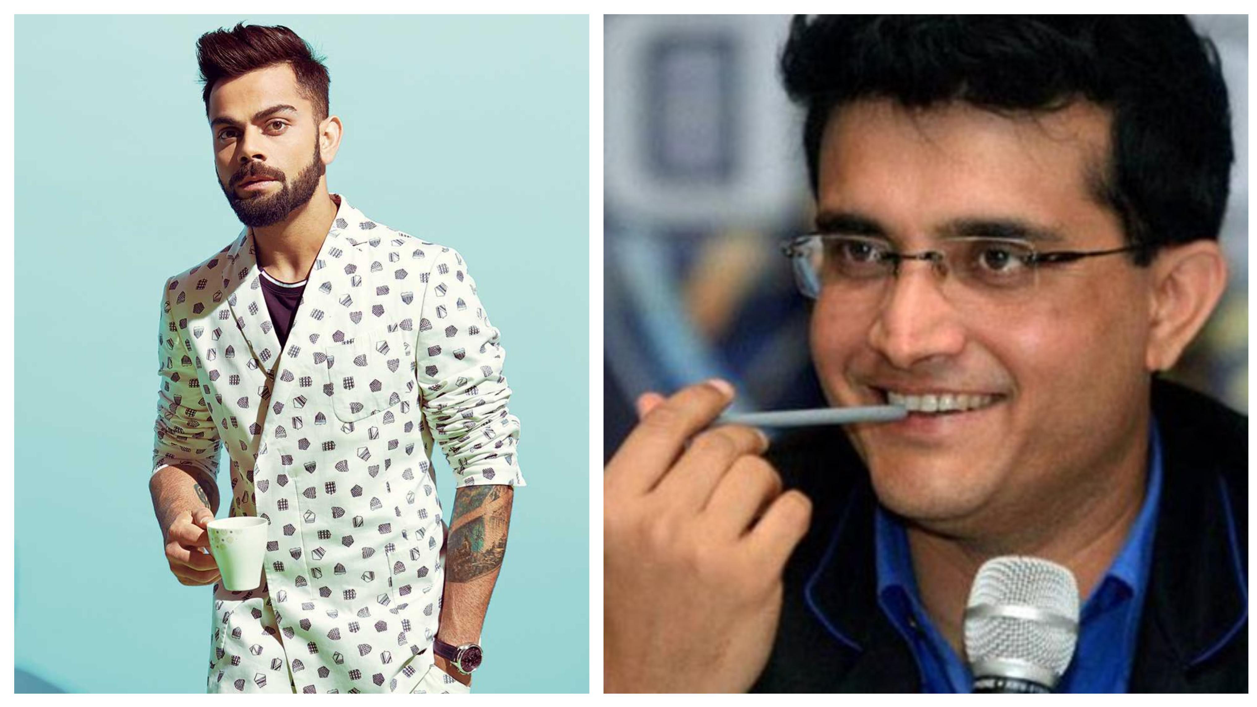 Sourav Ganguly feels Virat Kohli would make an exceptional actor