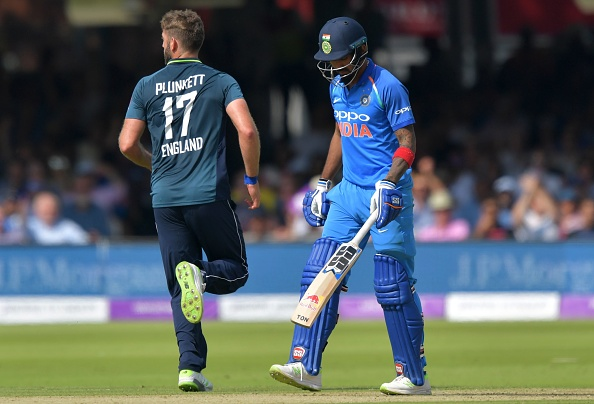 KL scored a duck in the second ODI against England and was replaced by Dinesh Karthik in the 3rd ODI | Getty