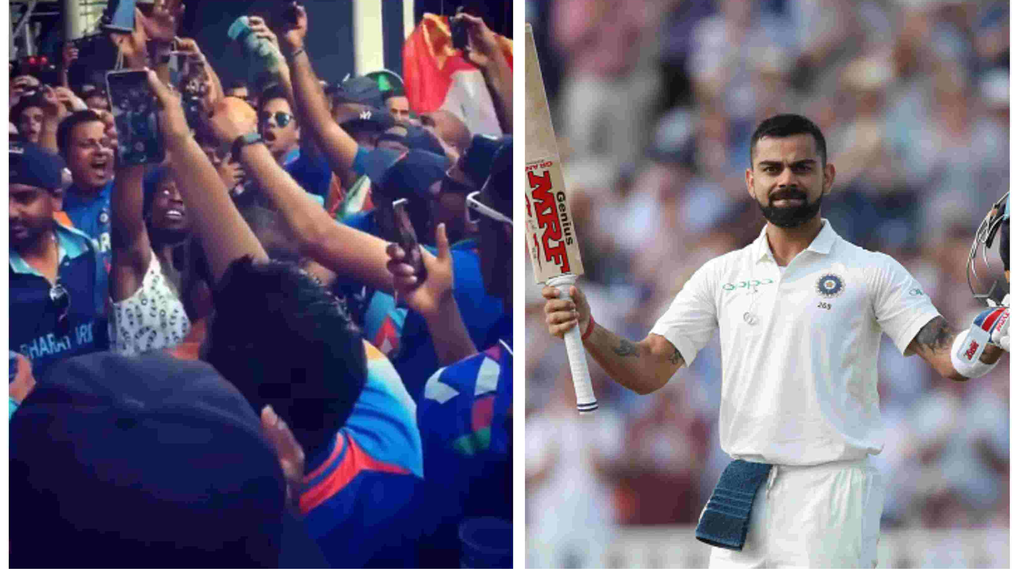 ENG v IND 2018: WATCH – Bharat Army cheer for Virat Kohli with a special chant