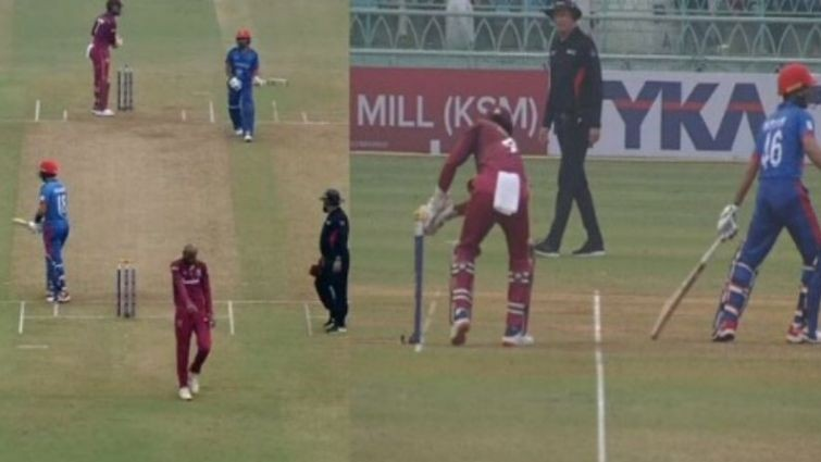 AFG v WI 2019: WATCH - Ikram Alikhil gets run-out in most unfortunate way during 1st ODI against West Indies
