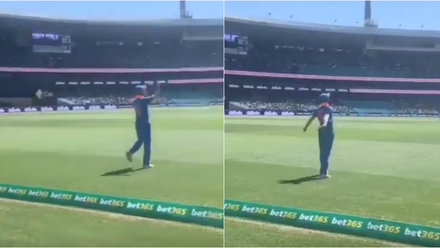 AUS v IND 2018-19: WATCH: Shikhar Dhawan does bhangra on the drum beats of The Bharat Army