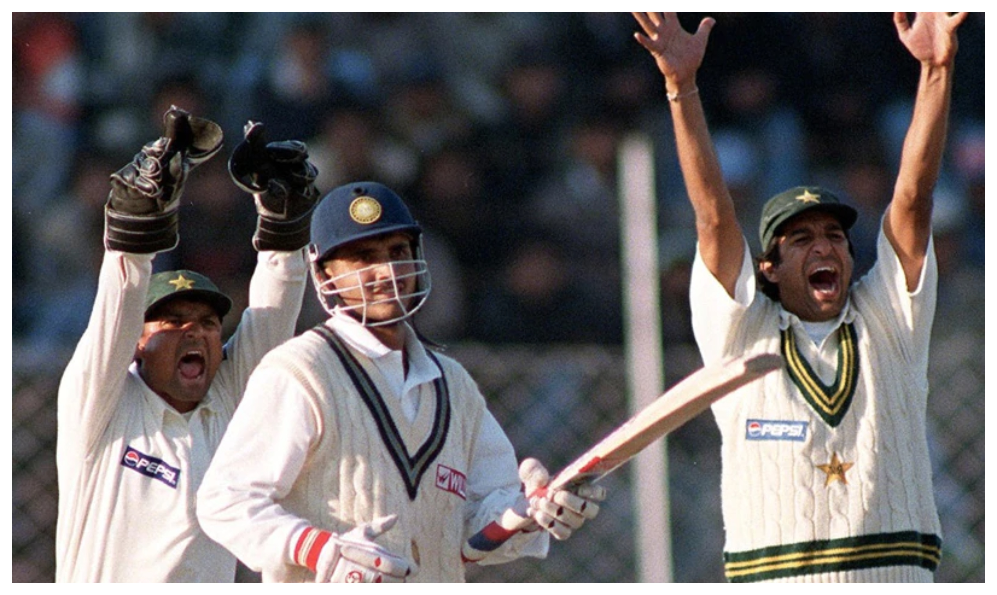 Ganguly was given out in a controversial manner in 1999 Chennai Test | AFP