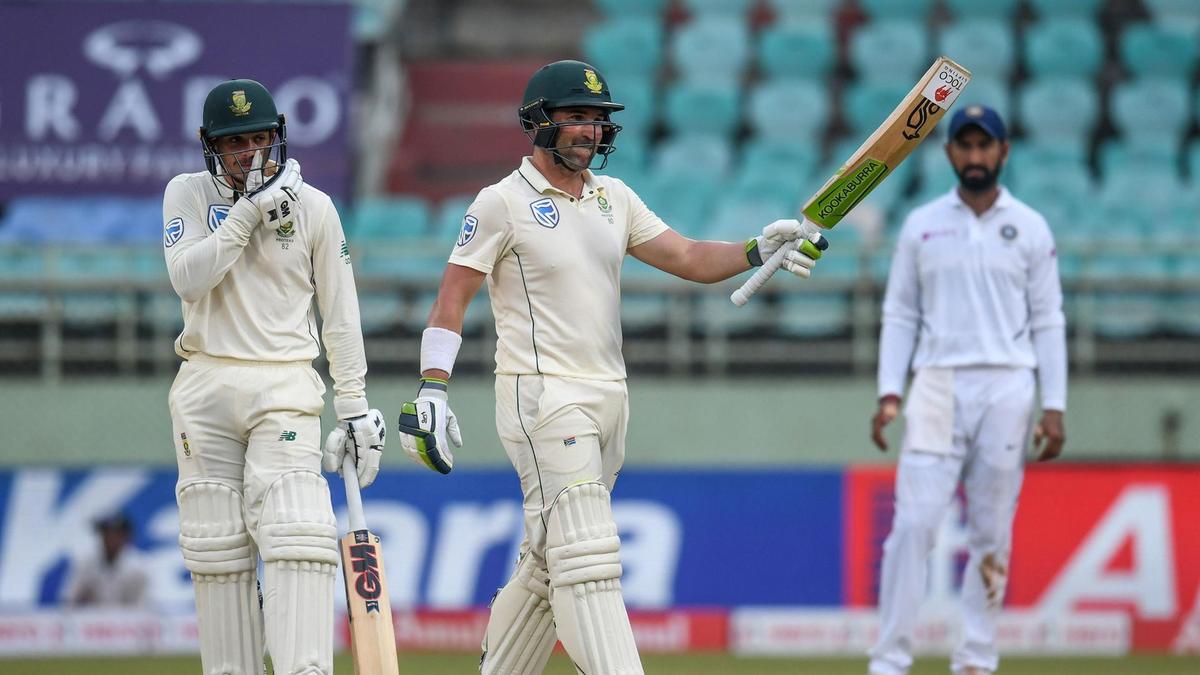Quinton de Kock and Dean Elgar hit sound centuries in 1st innings | AFP
