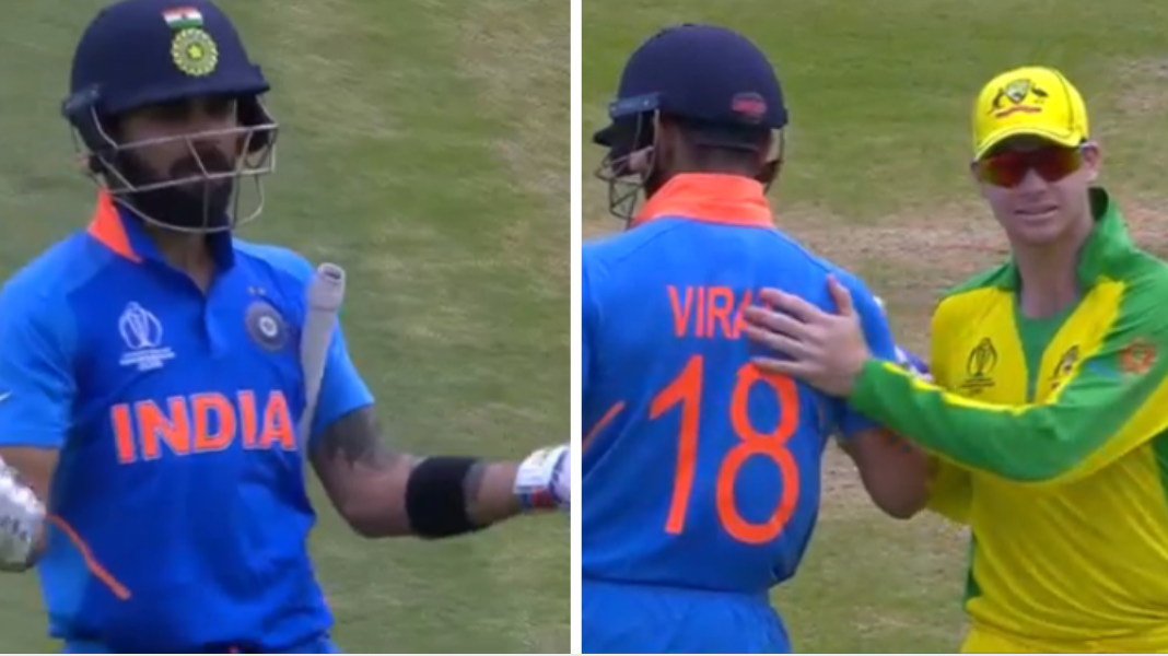 CWC 2019: WATCH - Virat Kohli asks Indian crowd to stop cheater chants at Steve Smith