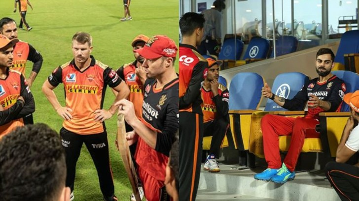 IPL 2020: WATCH - Virat Kohli and AB de Villiers spend time with SRH's youngsters