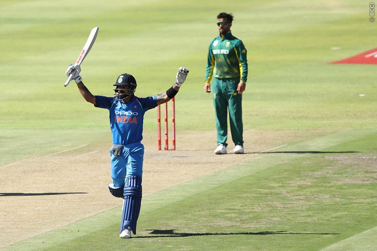 Virat Kohli celebrates his 34th ODI ton | BCCI