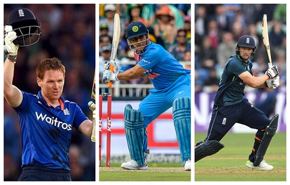 Eoin Morgan, MS Dhoni and Jos Buttler | Getty