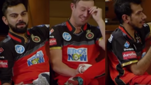 WATCH: Virat Kohli, Yuzvendra Chahal and AB de Villiers' candid chat is a laughter dose