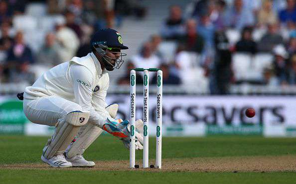 Rishabh Pant made his Test debut against England in the third Test at Nottingham | Getty