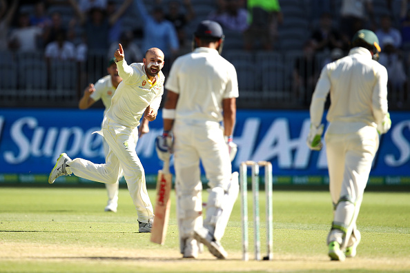 Nathan Lyon celebrates after dismissing Indian captain Virat Kohli | Getty