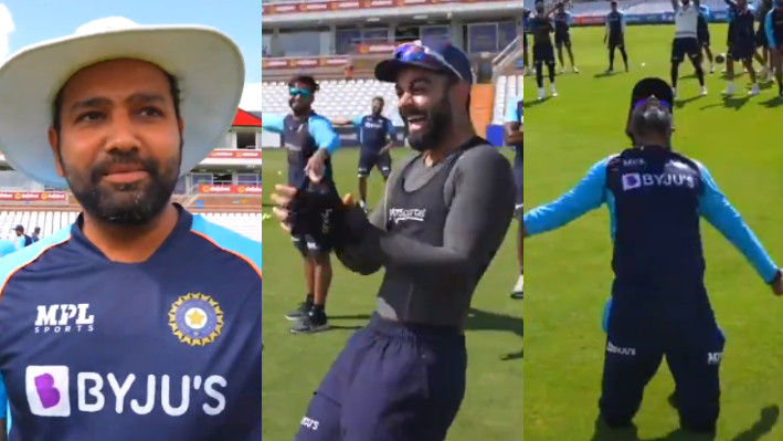 ENG v IND 2021: WATCH - Team India enjoy a fun game introduced by Rohit Sharma ahead of practice session