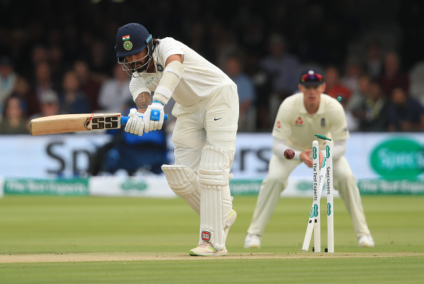 M Vijay gets his stumps rattled by James Anderson in the first innings of the Lord's Test | Getty