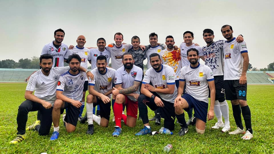Shakib Al Hasan takes field to play football; takes his team to win