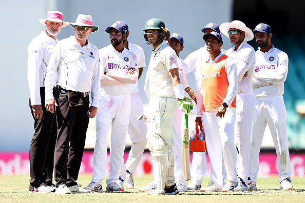 Tim Paine joined the Indian Cricket Team huddle racial slurs hurled at Siraj | Getty Images