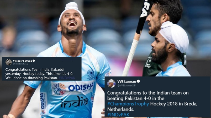 Cricket fraternity celebrates Indian hockey team's win over Pakistan in Champions Trophy opener