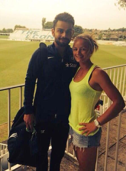 Danielle Wyatt clicked a picture with Virat Kohli in 2014 | Twitter