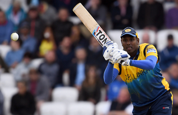 Angelo Mathews made 85 crucial runs to help SL to 232 runs | Getty