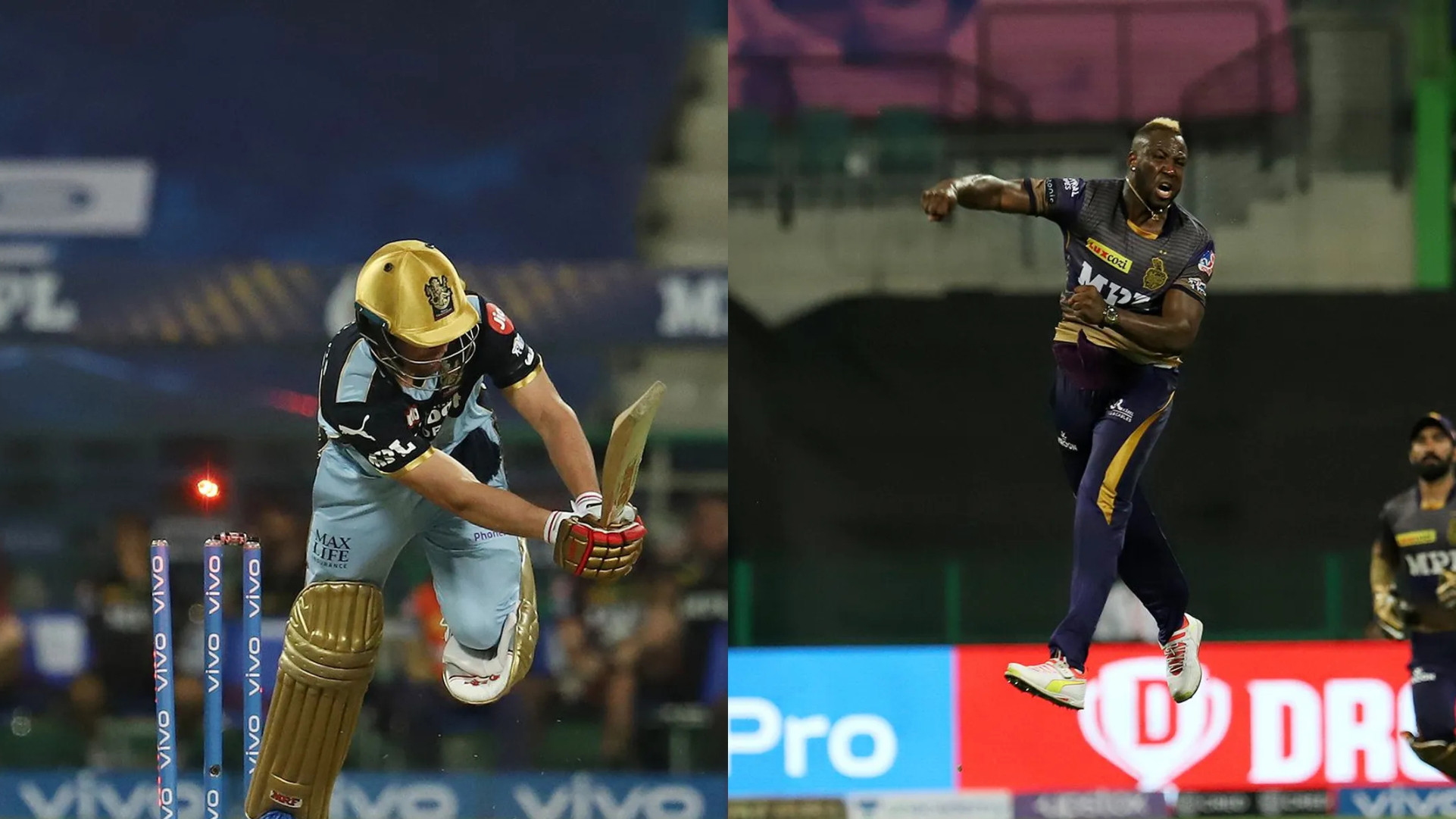 IPL 2021: WATCH- AB de Villiers gets cleaned up by a peach yorker by Andre Russell