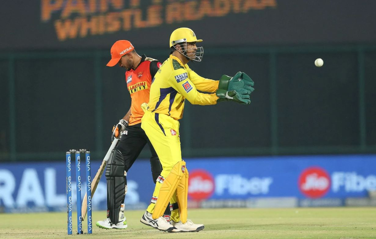 MS Dhoni in action during CSK's match against SRH | BCCI/IPL