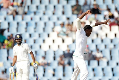 Rohit Sharma scored 10 runs in the first innings of the second Test at Centurion | Getty