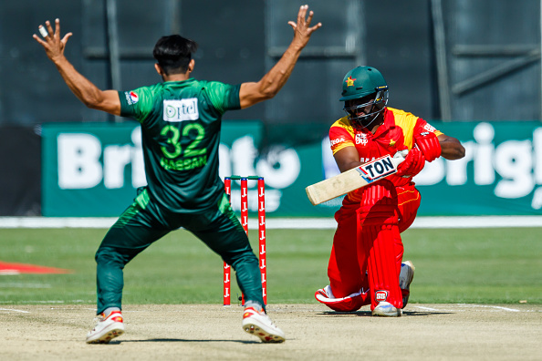 File pic: Hasan Ali celebrating a wicket against Zimbabwe | GETTY