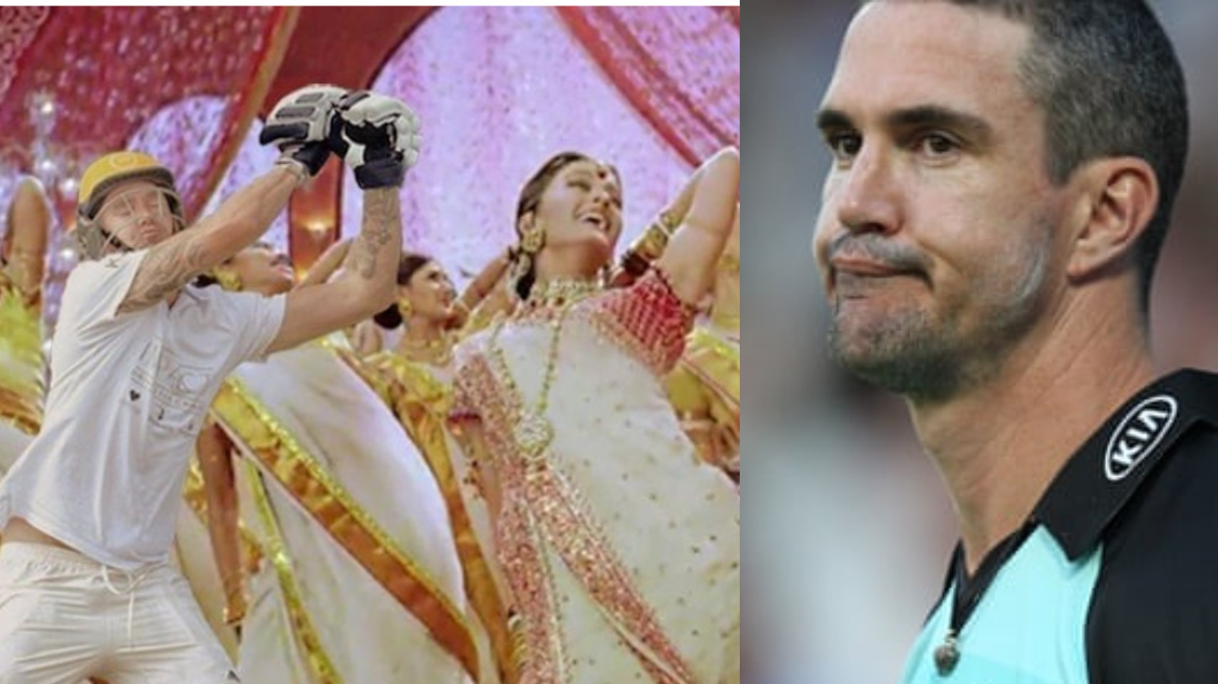 """Kevin Pietersen exclaims """"Oh No"""" after seeing his Devdas meme with Madhuri and Aishwarya"""