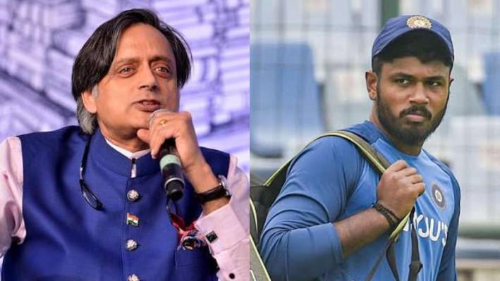 SL v IND 2021: Shashi Tharoor posts update on Sanju Samson's knee injury