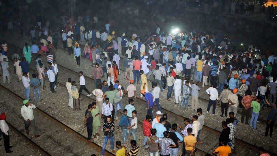 More than 50 people celebrating Dussehra were mowed down by two trains in Amritsar | HT Photo