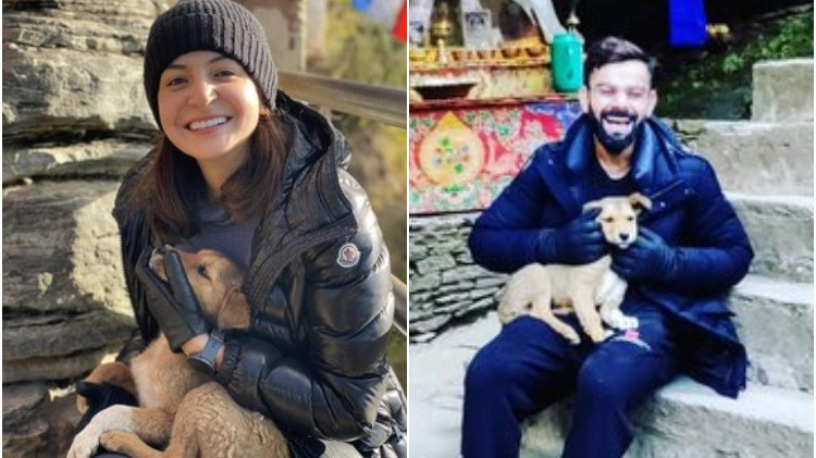 Anushka Sharma and Virat Kohli share latest pictures from Bhutan trip with an adorable dog
