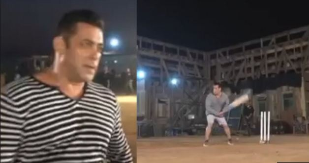 Salman Khan played cricket on sets of his movie Bharat | Twitter