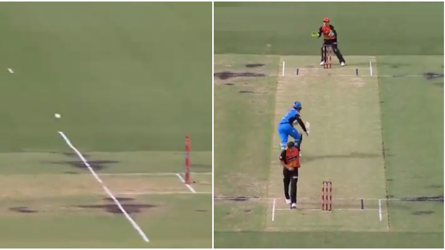 BBL 2018-19: WATCH- Alex Carey loses his wicket in one of the funniest run-out ever