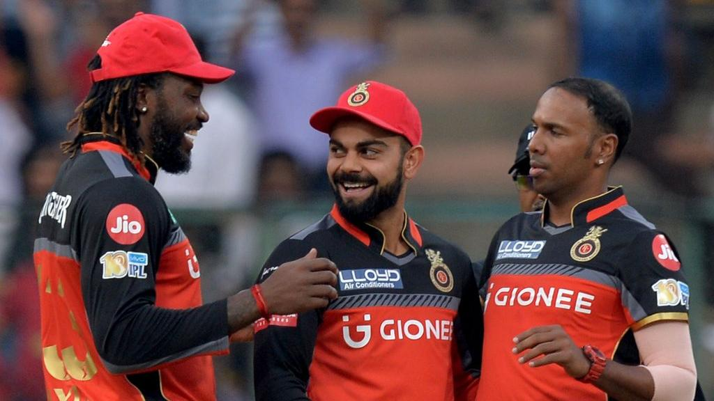 Gayle forged a fabulous partnership with Kohli for RCB for 8 seasons. (AFP)