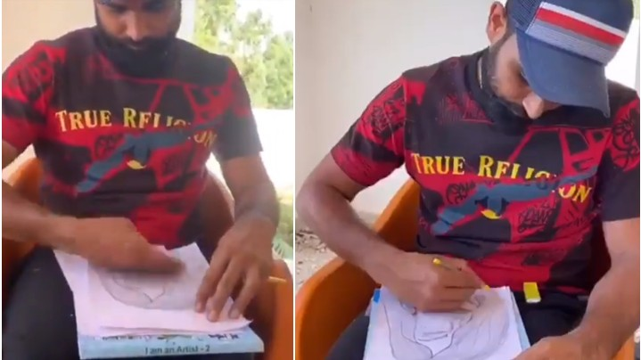 WATCH - Mohammad Shami shows amazing hidden talent; shares a sketch