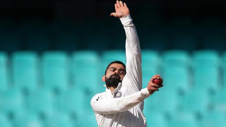 WATCH: Virat Kohli turns his arm over for a couple of overs after ineffectiveness of Indian bowlers