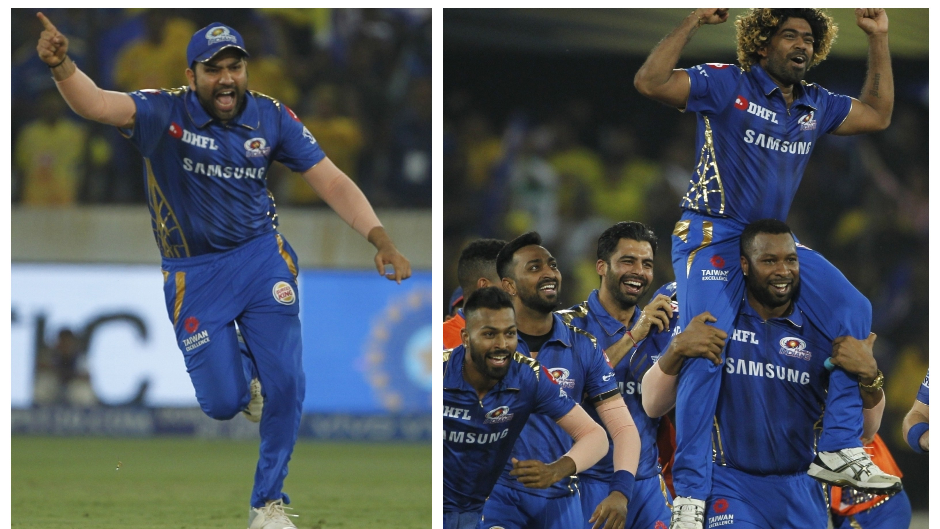 IPL 2019: Captain Rohit Sharma and other MI players react after beating CSK in a tense final