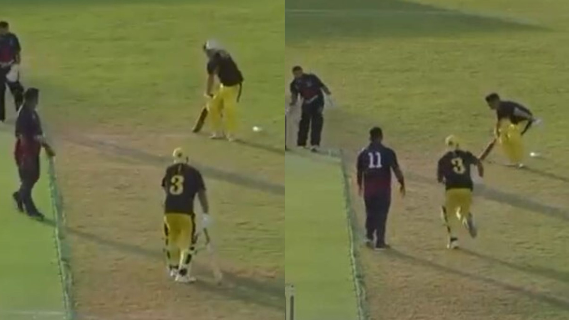 WATCH- Batsmen hilariously steal two runs despite wicketkeeper having the ball; game ends in tie
