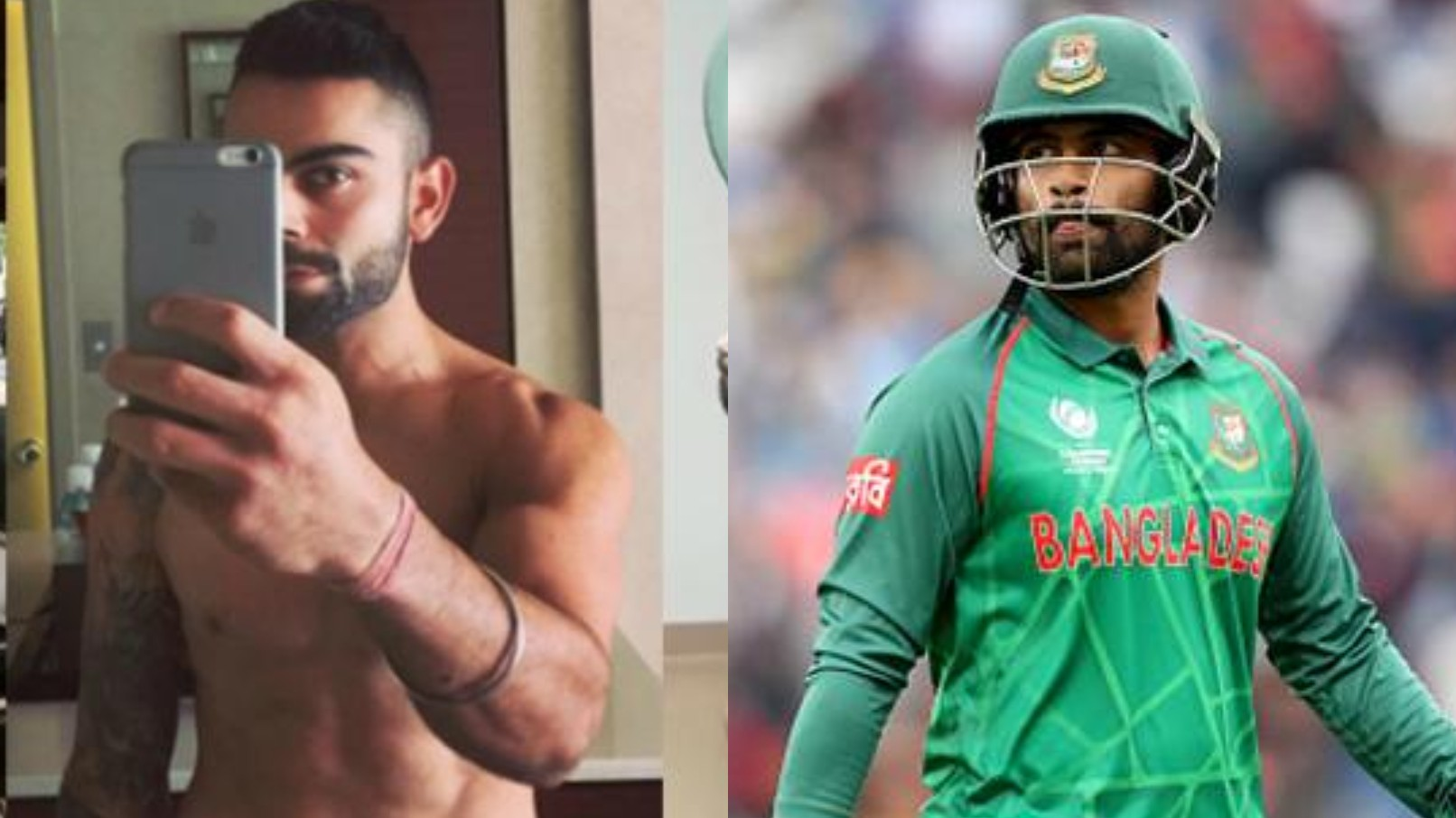 Tamim Iqbal says he was ashamed to see Virat Kohli going hard at his fitness training