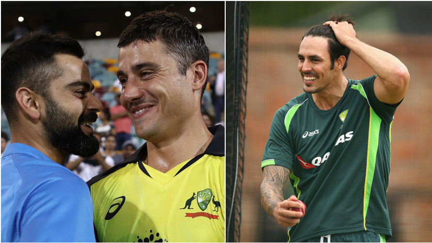 Mitchell Johnson tries to pull Virat Kohli's leg after ICC posts his picture with Stoinis