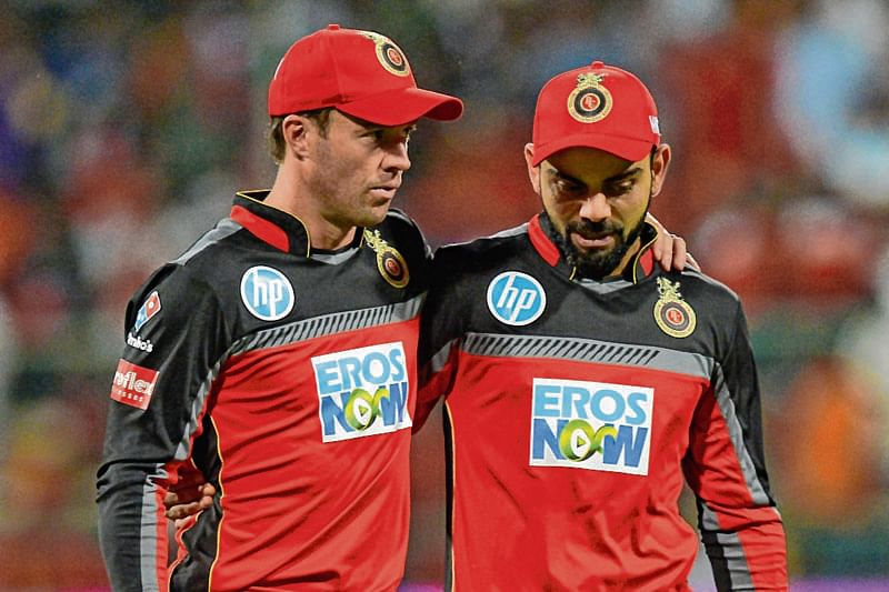 AB de Villiers (L) and Virat Kohli (R) for RCB | AFP