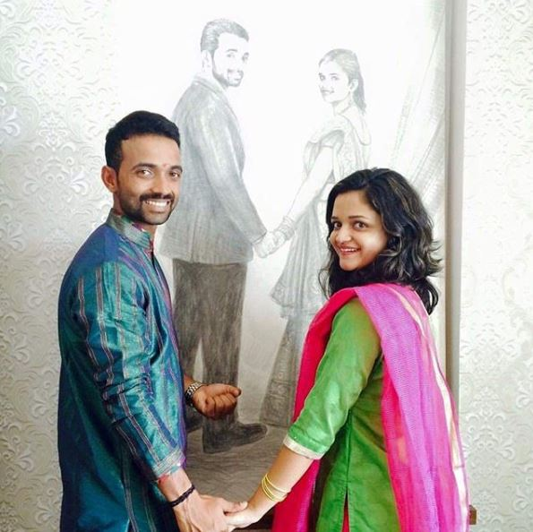 Radhika and Ajinka Rahane | Instagram