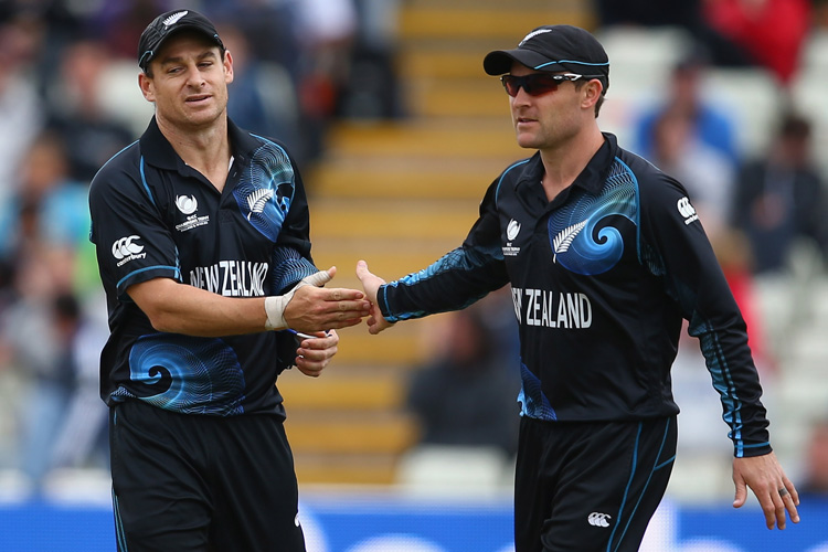 Brendon McCullum with brother Nathan McCullum | Getty