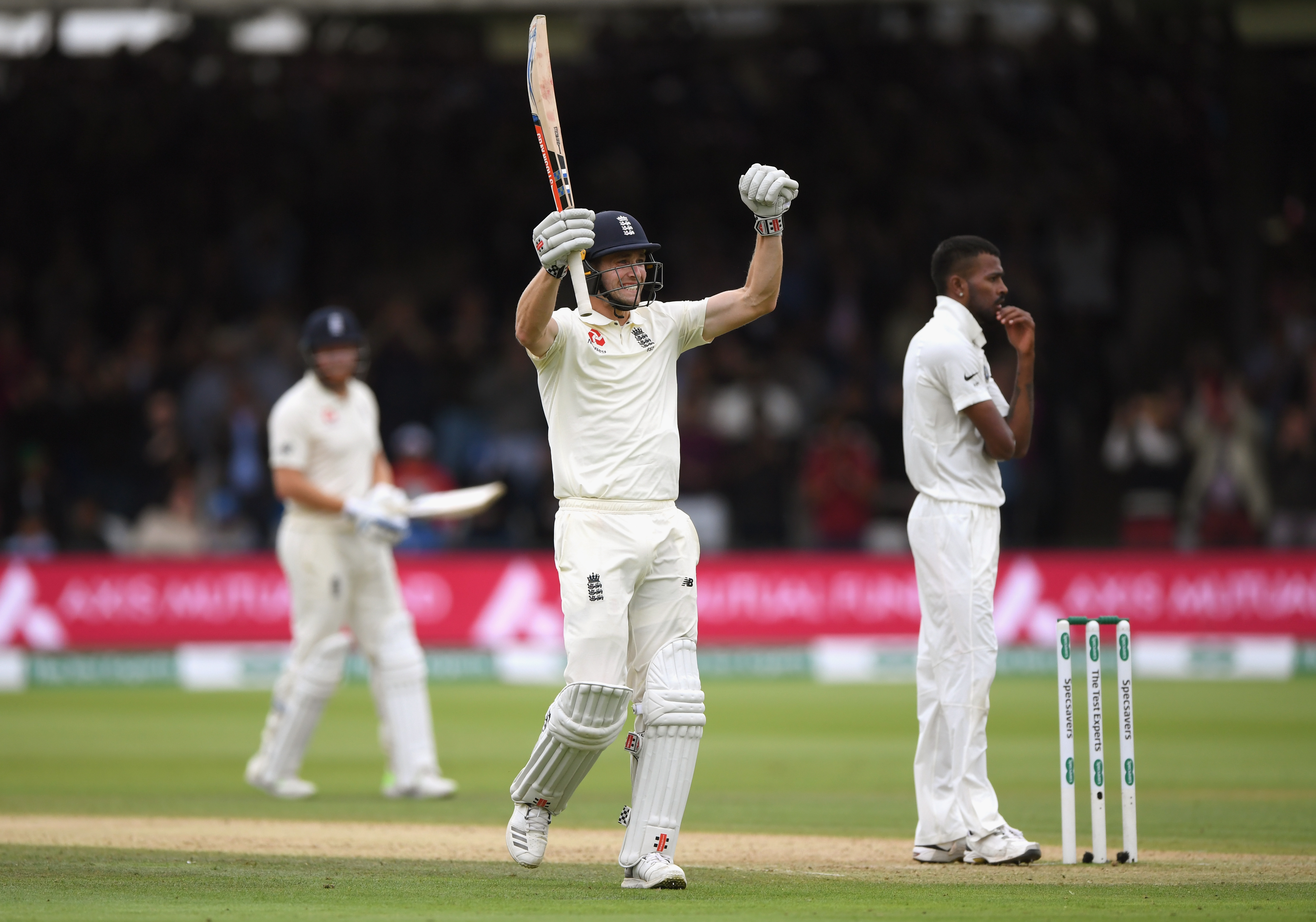 Woakes scored his maiden Test hundred at The Home of Cricket. (Getty)