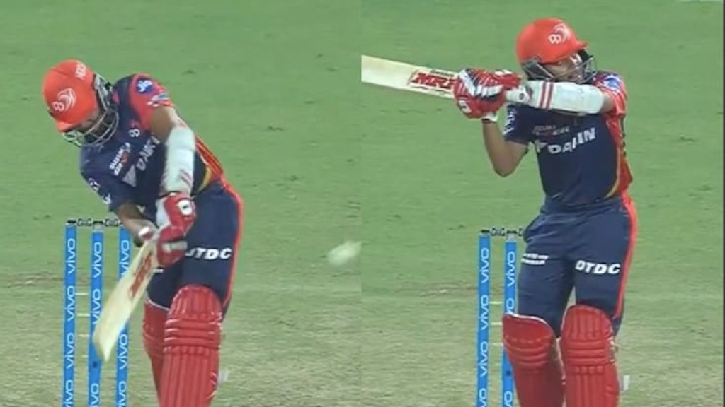 IPL 2018: Watch – Prithvi Shaw executes MS Dhoni alike helicopter shot off Mitchell Johnson