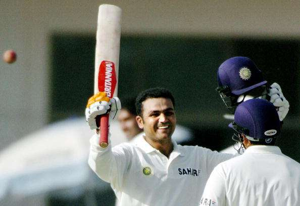 Virender Sehwag was the first Indian to hit a Test triple ton