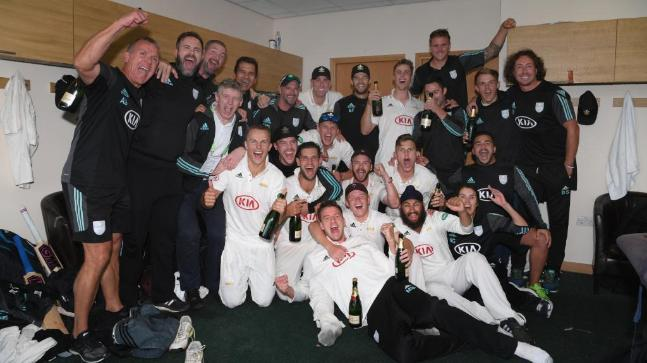 Surrey clinched their first Championship title in 16 years. | Twitter