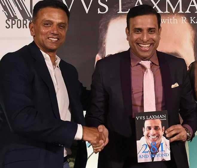 Dravid and Laxman at the launch of 281 & Beyond | Twitter