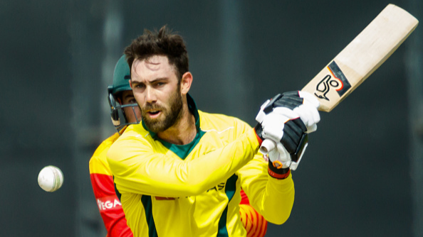 Glenn Maxwell expresses gratitude towards coach Justin Langer after scoring fifty against Zimbabwe.