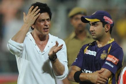 Gautam Gambhir with Shah Rukh Khan | GETTY