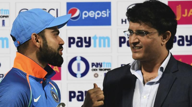 Virat Kohli and Sourav Ganguly | AFP
